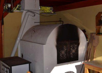 Fenyő kerti konyha, asztal és szék, akác