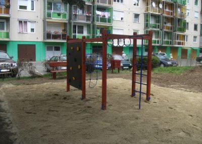 homok ütéscsillapítás, mászókombináció, játszótér